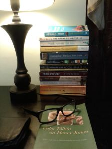 My 'to read' pile. The other book is Colm Toibin's essays on Henry James. Toibin is never far away.