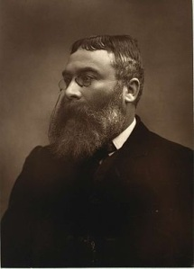 British novelist, historian and humanitarian, Walter Besant (1836 - 1901)