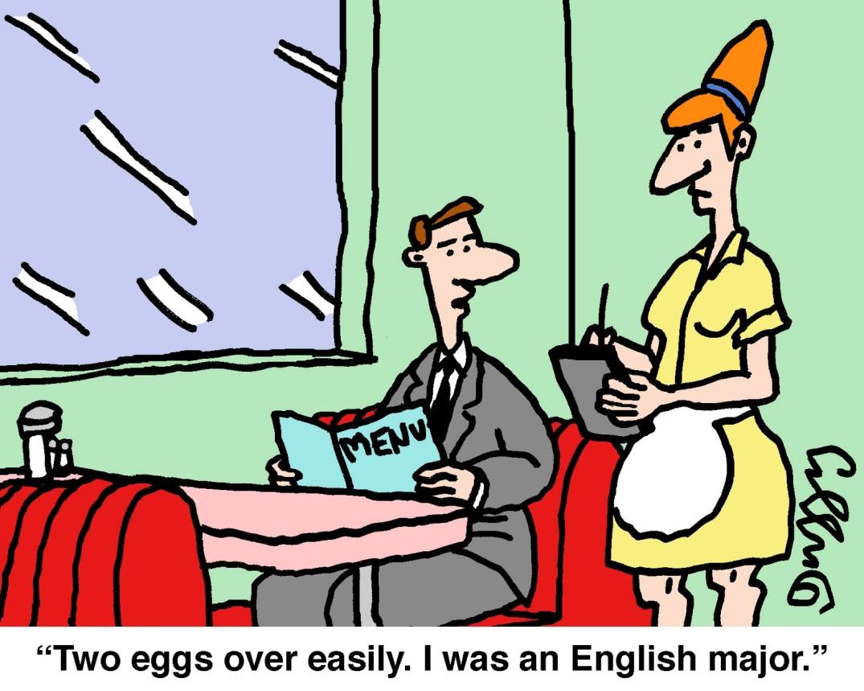 Eggs over easily