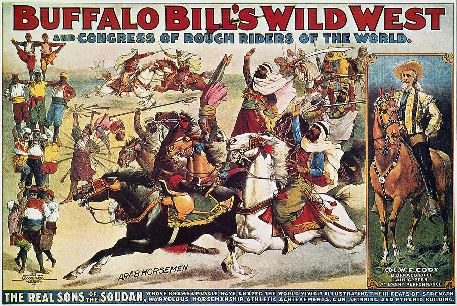 A poster for Buffalo Bill's Wild West, Congress of Rough Riders, 1899